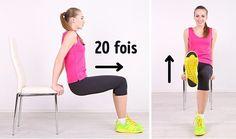 5Exercices pour obtenir unventre parfait àfaire avec une simple chaise