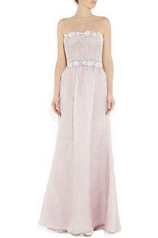 Valentino - Beaded silk-organza gown