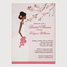 Cherry Blossom Bridal Shower Invitation | http://simpleweddingstuff.blogspot.com/2014/10/cherry-blossom-bridal-shower.html