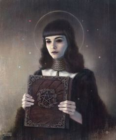'Oyer Et Terminer' - Another of the works from the 'Black Lodge' series by Tom Bagshaw.