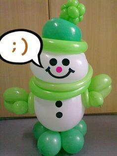 Balloon snowman made by Balloontwistee