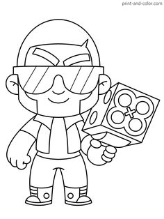 There are many high quality Brawl Stars coloring pages for your kids - printable free in one click. Kids Printable Coloring Pages, Star Coloring Pages, Blow Stars, Pyssla Pokemon, Clever Halloween Costumes, Simpsons Art, Star Party, Science Experiments Kids, Sailor Moon