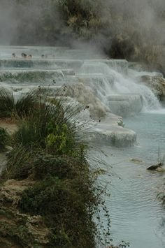 Hot springs in Tuscany-Saturnia