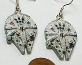 Star Wars Millennium Falcon Earrings :)  oh my geekness.