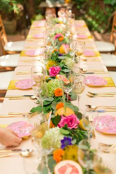 Clarity and Class Events and Design and a team of vendors bring us this unbelievably fun and beautiful styled shoot with a colorful citrus theme. Garden Wedding, Lace Wedding, Wedding Flowers, Summer Wedding Decorations, Table Decorations, Citrus Garden, Wedding Planning Inspiration, Colorful Garden, Wedding Blog