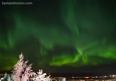 Northern lights – aurora borealis in the sky of Rovaniemi in Lapland in Finland Aurora Borealis, Santa Claus Village, Destinations, Photos Du, Night Skies, Places To See, Natural Beauty, Northern Lights, Winter
