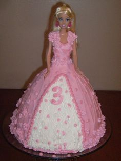 barbie cakes | Talented Terrace Girls: Wild Card Wednesday:Barbie Birthday Cake