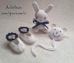 Amigurumis ArteSesa: Amigurumi conejo & portachupete