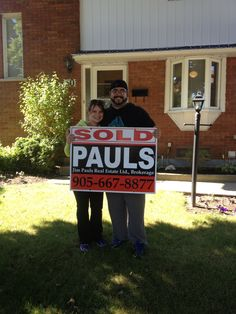Congratulations John & Nikki in your new home!  Jim Pauls Real Estate Ltd., Brokerage --  Hamilton Real Estate --  Real Estate Buyers -- For Sale -- First Time Buyers -- HamOnt