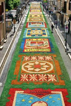 Italy, flower carpet