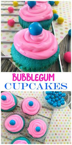 Fun bubblegum cupcake recipe that is sure to please. They are not only colorful, but they are really delicious, too! Try them, you'll like them.