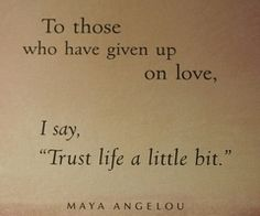 i will never give up on love!