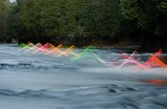 Motion Exposure: Light Art Captures the Movement of Kayaks