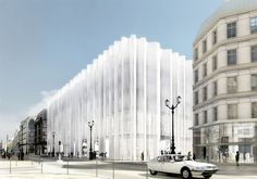The Anxiety of Paris, Captured in a Single Department Store A judge's ruling over renovations to La Samaritaine has the city wondering abou. Architecture Cool, Japanese Architecture, School Architecture, Renovation Paris, Parking Building, Ryue Nishizawa, Aarhus, Facade Design, Department Store