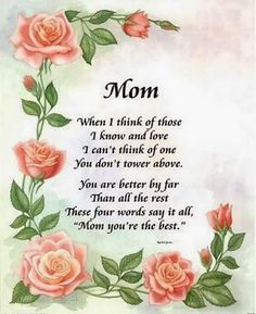 Mom When I Think Of You mom mothers day mother family quotes mom quotes happy mothers day happy mothers day pictures mothers day quotes happy mothers day quotes mothers day quote mothers day Short Mothers Day Poems, Mum Poems, Happy Mothers Day Poem, Love You Poems, Mother Poems, Mother Day Message, Mothers Day Pictures, Mother Day Wishes, Mothers Day Crafts