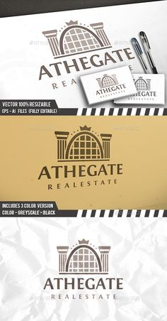 Real Estate Gate Logo — Photoshop PSD #rent #horizon • Available here → https://graphicriver.net/item/real-estate-gate-logo/17362400?ref=pxcr