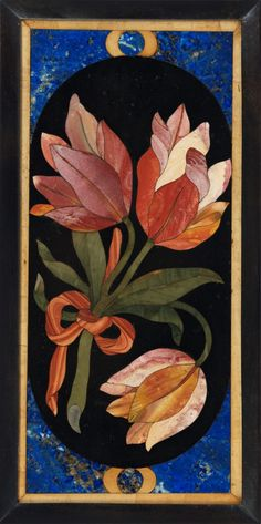 6431 Collection of 17th Century Framed Pietra Dura Panels