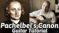 "Guitar Tabs & Lesson ""Pachelbel's Canon in D"" Classical Guitar Tutorial:. Classical Guitar Lessons, Online Guitar Lessons, Acoustic Guitar Lessons, Guitar Tips, Guitar Chord Chart, Guitar Chords, Johann Pachelbel, Pachelbel's Canon, Guitar Photography"