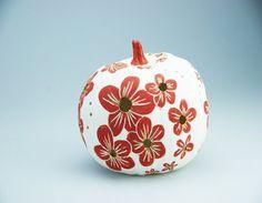 Raku ceramic pumpkin