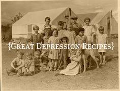 Great Depression Recipes