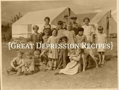 Great Depression Recipes. Great recipes and interesting stories