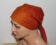 """Kopftücher - Kopftuch """"Ella"""", Farbverlauf Ocker-Rost - ein Designerstück von beHUETE-dich bei DaWanda"""