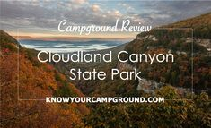 Explore Cloudland Canyon State Park in northwest Georgia with scenic canyon views and lots of outdoor activities including great campgrounds! Yellowstone Camping, Yellowstone National Park, Cloudland Canyon, Waterfall Trail, Picnic Area, Horseback Riding, Time Travel, Day Trips, Outdoor Activities