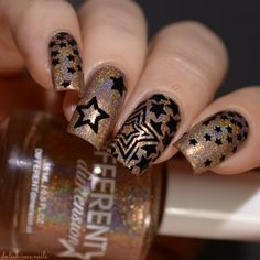 """The Holo Hook-Up Box May 2017 Off To Broadway – Different Dimension """"I Am Not Throwing Away My Shot"""" Hamilton star nail art"""