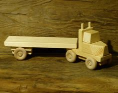 Handmade Wooden Toys Farm Tractor and Plow Wooden by OutOnALimbADK