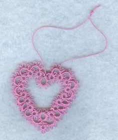 Shuttle Tatted lace heart