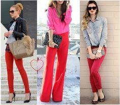 anne makeup®: mural fashion: calça vermelha, uma paixão