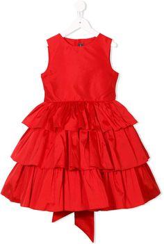 Red OSCAR DE LA RENTA Girls 2Pc Holiday Plaid Wool Romper Set 12M