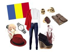 """Hetalia Romania!"" by whale52 ❤ liked on Polyvore featuring beauty, Carolina Herrera, Tommy Hilfiger, Stetson, Johnny Loves Rosie, Mulberry, FOSSIL, Kasun and Erickson Beamon"