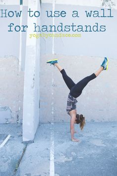 Pin now, practice handstand later!  Wearing: Sweaty Betty leggings, Puma tank and sneakers.