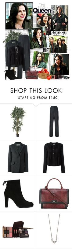 """Regina Mills - 5.01, ""Dark Swan"""" by noseinanovel ❤ liked on Polyvore featuring Nearly Natural, Theory, Golden Goose, Étoile Isabel Marant, Stuart Weitzman, Givenchy, Laura Mercier and Pamela Love"