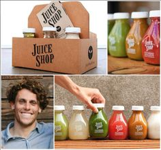 Love these fresh juices from Juice Shop!  Charlie Gulick, founder of San…
