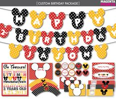 Hey, I found this really awesome Etsy listing at https://www.etsy.com/listing/103675557/mickey-mouse-birthday-party-package