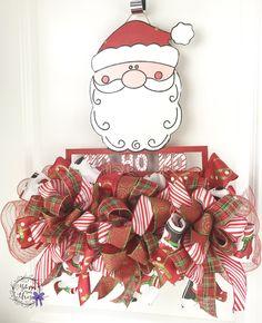 Welcome to Our Ho Ho Ho-me Wooden Door Hanger, Santa Face Wooden Door Hanger, Christmas Door Hanger by MelissaMadeThisLLC on Etsy https://www.etsy.com/listing/558064342/welcome-to-our-ho-ho-ho-me-wooden-door