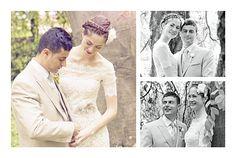 Dankeskarten Hochzeit 3 fotos weiß