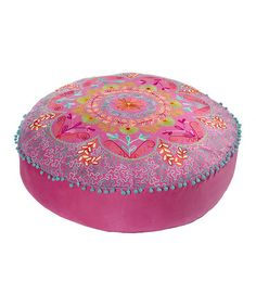 Take a look at this Botanical Floor Cushion by Home Blow-Out on #zulily today! Cute for a girl's room. :)