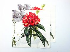 20pcs Vintage Paper Napkins Decoupage Angels Red Peony Flowers Home Party Decor Supply 2Ply 13 x 13 >>> You can get more details by clicking on the image. (This is an affiliate link)