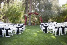 Great outdoor wedding venue in Big Bear Lake, CA. Gold Mountain Manor
