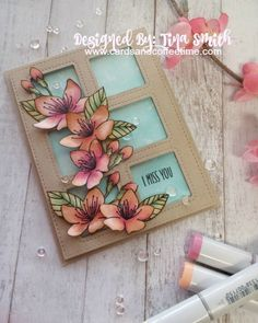 Spring is in the air...And I think this Cherry Blossoms stamp set by Pretty Pink Posh is perfect for today's card:) I just posted my…