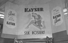 Kayser Hosiery shop display. Sydney. 1947