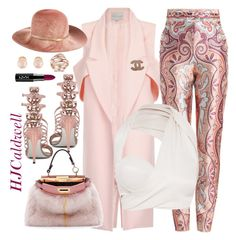 """""""Winter Pink"""" by hjcaldwell on Polyvore featuring Zimmermann, Eugenia Kim, Fendi, Chanel and Kenneth Jay Lane"""