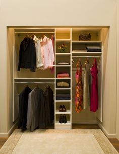 Beau Simple Modern Minimalist Closet Ideas White Color Design Equipped With  Proper Lighting Unit Finished In Small
