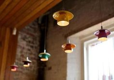 Tazas de café como divertidas lámparas