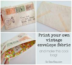 Vintage Envelope Bags    Sew So Easy