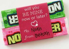 Now or Later step Cool Candy Valentine's Day Card Ideas for Kids