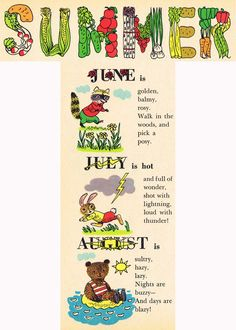 """Summer; by Richard Scarry; from """"The New Golden Almanac"""""""